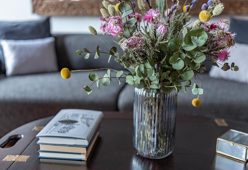 Blomster på dronning louise suiten