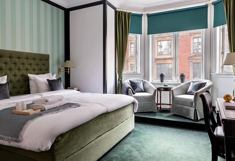 Standard værelse for 2 personer med altan hos Hotel Kong Frederik